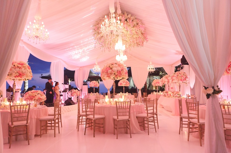 How can drapes be used for weddings or events?