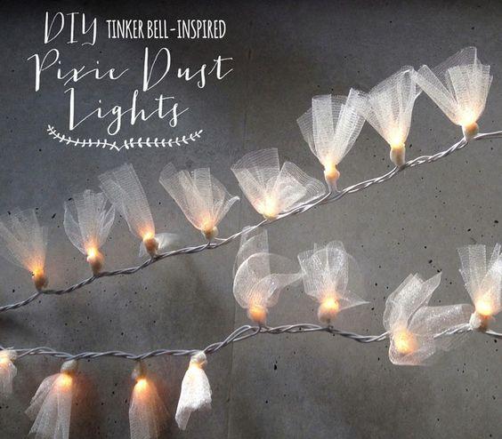 DIY Pixie Dust String Lights