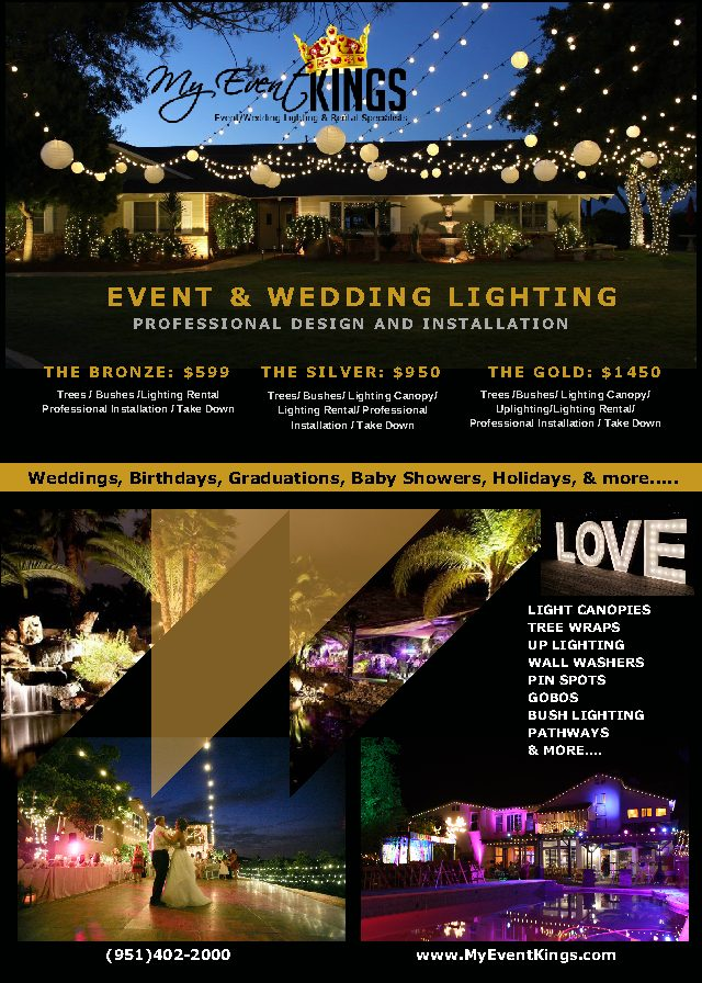 Summer is Here! My Event Kings is Ready to Light up Your Wedding or Event